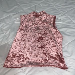 Sexy Pink sleeveless top! Size:large